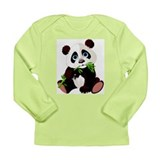 Cute Panda onsies Long Sleeve Infant T-Shirt