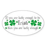 Luck of the Irish Sticker (Oval)