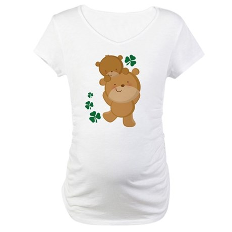 Irish Mom and Baby Bear Maternity T-Shirt