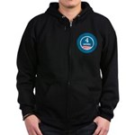 4 More Obama Zip Hoodie (dark)
