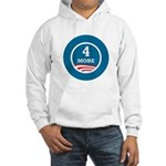 4 More Obama Hooded Sweatshirt