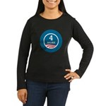 4 More Obama Women's Long Sleeve Dark T-Shirt