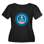 4 More Obama Women's Plus Size Scoop Neck Dark T-S