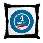 4 More Obama Throw Pillow