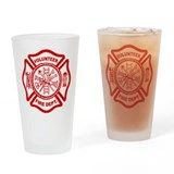 VOLUNTEER FIRE Drinking Glass