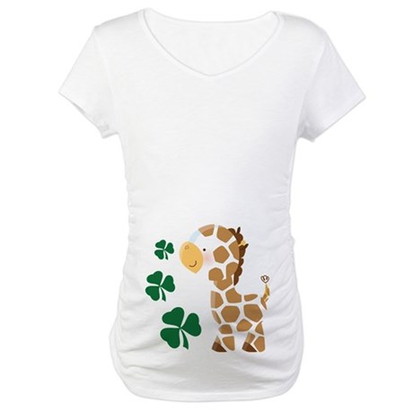 Irish Giraffe St Patrick Maternity T-Shirt