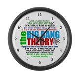 Big Bang Quote Collage Large Wall Clock