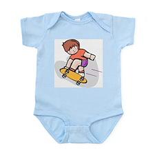 Skateboard Kid Infant Creeper