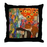 Klimt - Hope II Throw Pillow