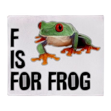 F Is For Frog Throw Blanket