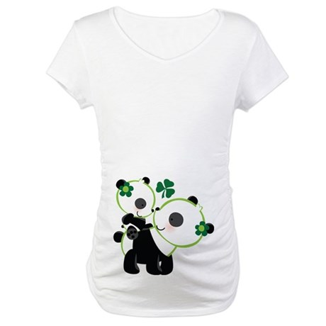 Irish Panda Mom and Baby Maternity T-Shirt