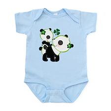 Irish Panda Bear Shamrock Infant Bodysuit