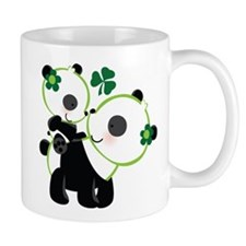 Irish Panda Bear Shamrock Mug