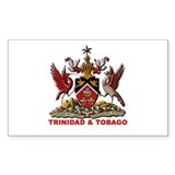 Trinidad Coat of Arms Rectangle Decal