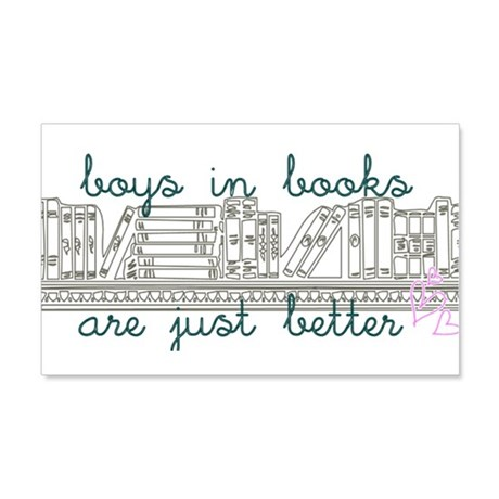 Boys in Books are Better 22x14 Wall Peel