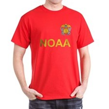 NOAA Commissioned Corps <BR>Black T-Shirt 3