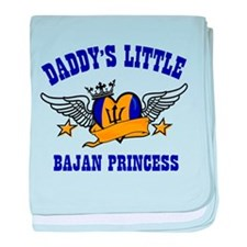 Daddy's Little Bajan Princess baby blanket