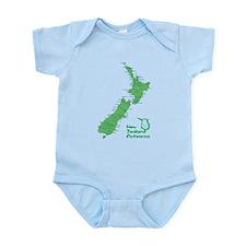 New Zealand Map Infant Bodysuit