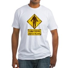 Hockey Player Caution Sign Shirt