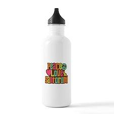 Peace Love Santorum Water Bottle