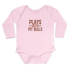 PLAYS Pit Bulls Long Sleeve Infant Bodysuit