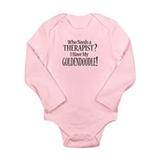 THERAPIST Goldendoodle Long Sleeve Infant Bodysuit
