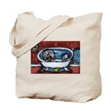 TIBETAN TERRIER red bathroom Tote Bag