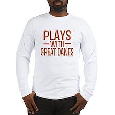 PLAYS Great Danes Long Sleeve T-Shirt