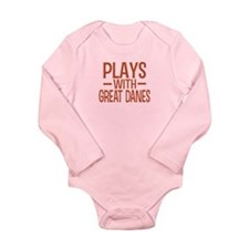 PLAYS Great Danes Long Sleeve Infant Bodysuit