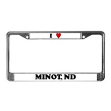 I Love Minot License Plate Frame