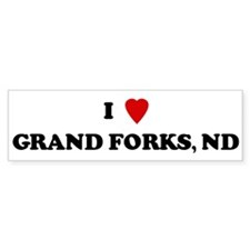 I Love Grand Forks Bumper Bumper Sticker