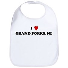 I Love Grand Forks  Bib