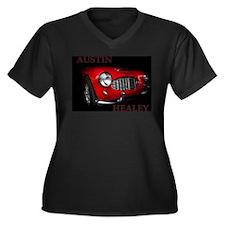 Austin Healey Women's Plus Size V-Neck Dark T-Shir