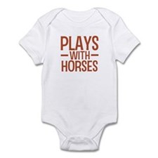 PLAYS Horses Infant Bodysuit