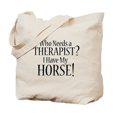 THERAPIST Horse Tote Bag