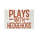 PLAYS Hedgehogs Rectangle Magnet
