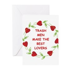 trash man Greeting Cards (Pk of 20)