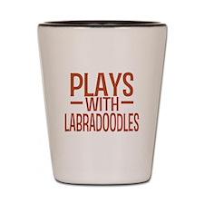 PLAYS Labradoodles Shot Glass