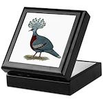 Victoria Crowned Pigeon Keepsake Box