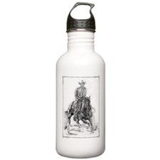 Cutting Horse Drawing Water Bottle