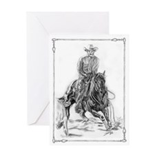 Cutting Horse Drawing Greeting Card
