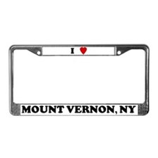 I Love Mount Vernon License Plate Frame
