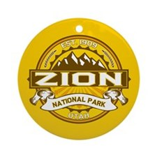 Zion Goldenrod Ornament (Round)