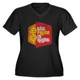 The Price Is Right Women's Plus Size V-Neck Dark T