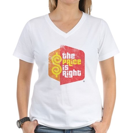 The Price Is Right Womens V-Neck T-Shirt