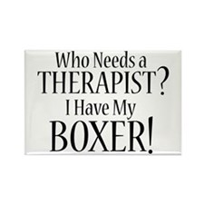THERAPIST Boxer Rectangle Magnet