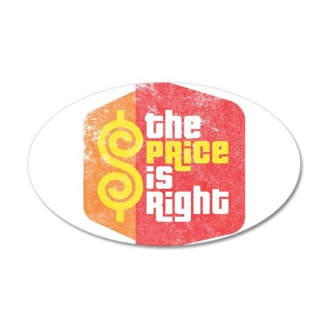 The Price Is Right 38.5 x 24.5 Oval Wall Peel