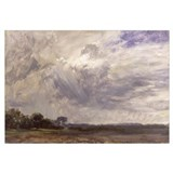 Landscape with Grey Windy Sky, c.1821-30 (oil on p