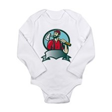 lumberjack woodcutter Long Sleeve Infant Bodysuit