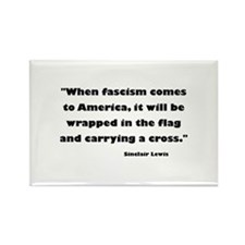 When Fascism Comes Rectangle Magnet